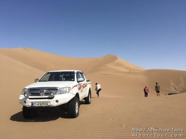 Driver-Guide with 4x4 car in Iran