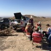 Picnic lunch in desert