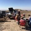 Picnic lunch in desert