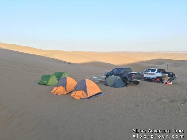 Our camp in desert