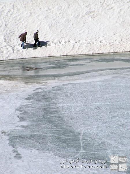 Frozen lake of Sabalan Mt.