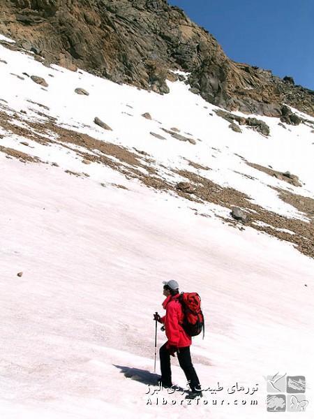 Toward Sabalan peak