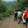 راه پیمایی به سوی روستای شیرین آباد