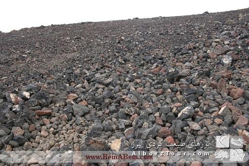 قسمت های گدازه ای قله پاشوره