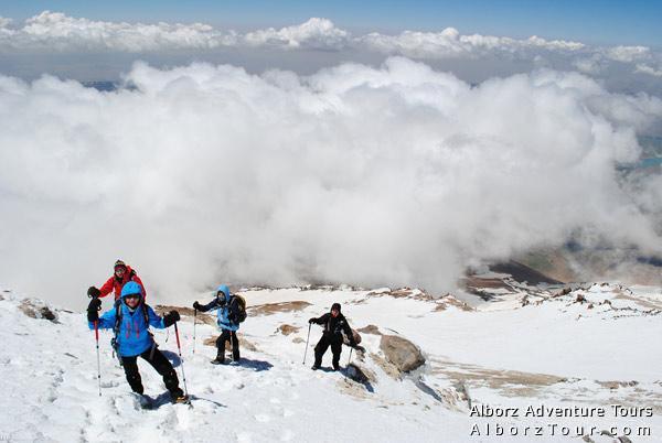 Climbing Damavand at 5200m
