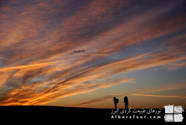 Sunset in Mesr desert